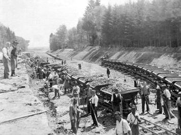 Bau-der-Autobahn-1